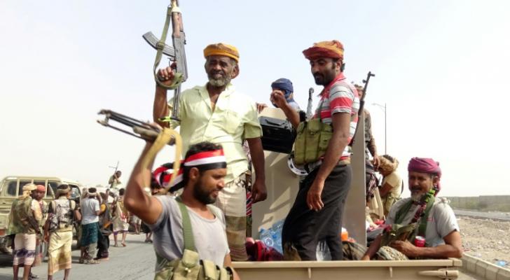 قوات موالية للحكومة اليمنية