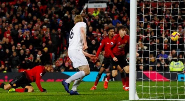 مانشستر يونايتد يتعادل مع بيرنلي مجدداً على أولد ترافورد
