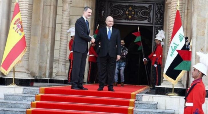 ملك اسبانيا والرئيس العراقي