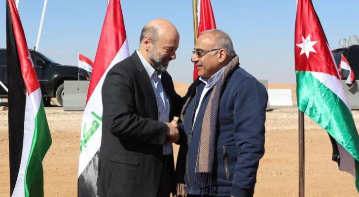 الرزاز ونظيره العراقي