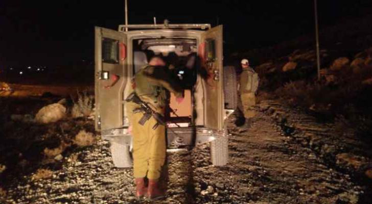 صورة نشرتها وسائل إعلام عبرية لحظة الاعتقال