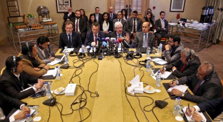 خلال جولة المحادثات بين الأطراف المتحاربة في اليمن