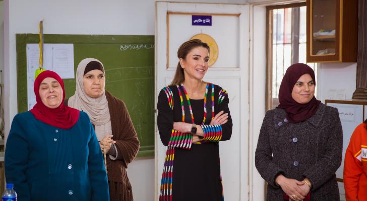 جلالة الملكة رانيا العبدالله تزور جرش وتلتقي رؤساء جمعيات