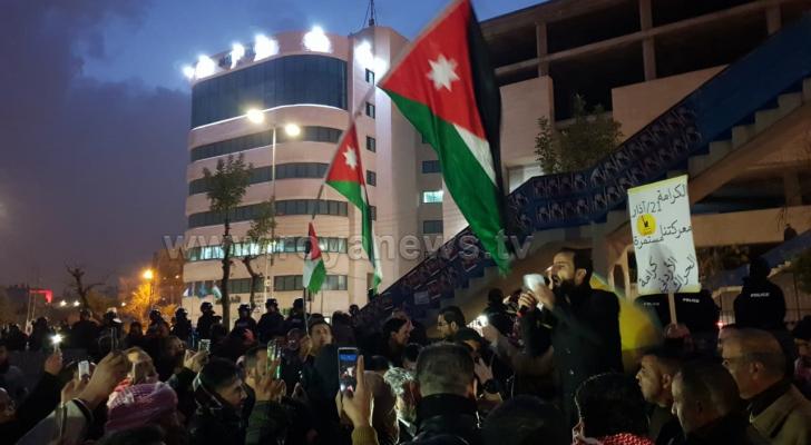 صورة من احتجاجات الرابع مساء الخميس