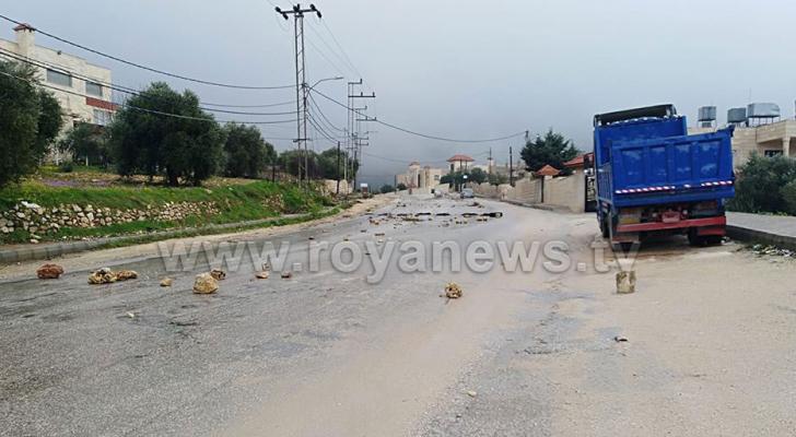 ارشيفية لأحد شوارع بلدة عنجرة في عجلون