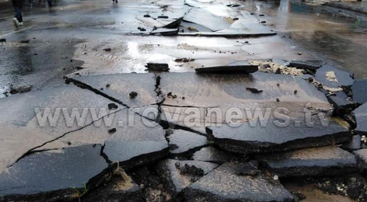 انهيار شارع رئيس في وسط البلد