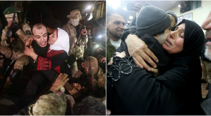 لقطات من استقبال الشبان الأربعة في غزة - مواقع التواصل الاجتماعي