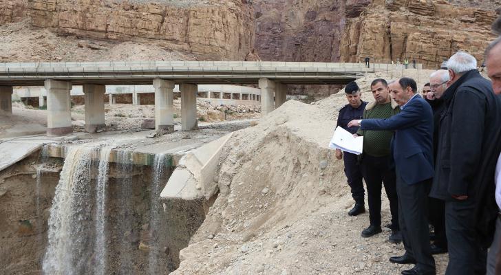 احد جسور البحر الميت