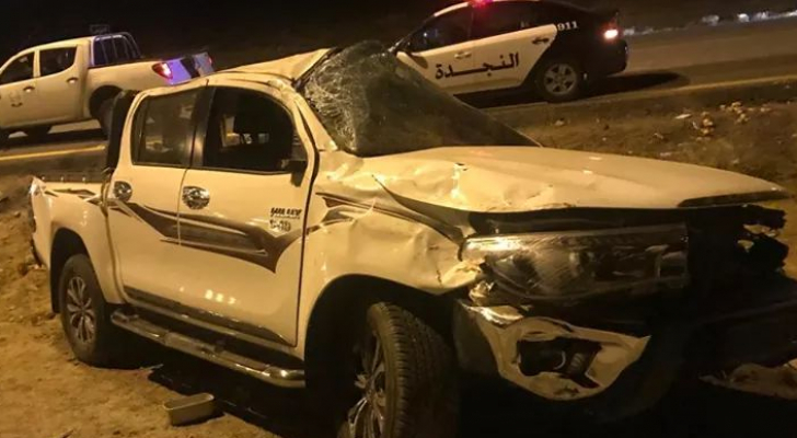 6 اصابات بحادث صدم وتدهور في معان