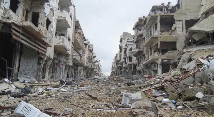 اثار الدمار في حلب السورية - ارشيفية