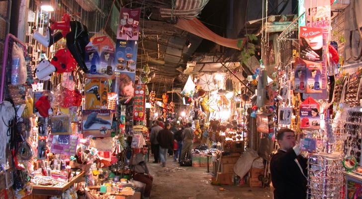 أحد أسواق دمشق القديمة