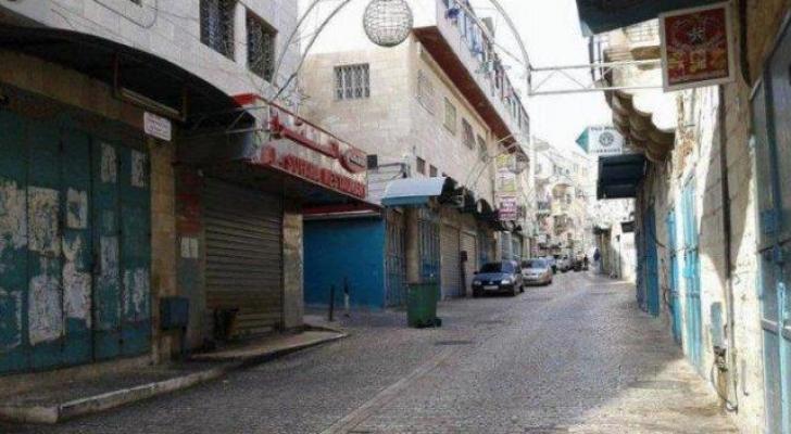 الإضراب الشامل يعم مدينة بيت لحم