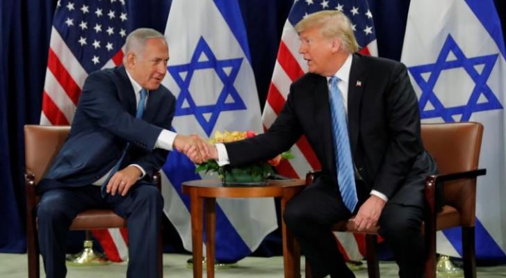 الرئيس الأمريكي دونالد ترمب وئيس وزراء الاحتلال بنيامين نتنياهو
