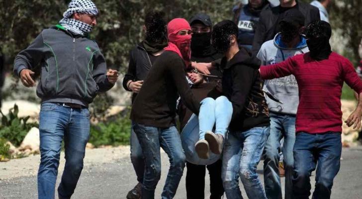 إصابات اثر قمع قوات الاحتلال المسيرة الاسبوعية في كفر قدوم - المركز الفلسطيني للاعلام