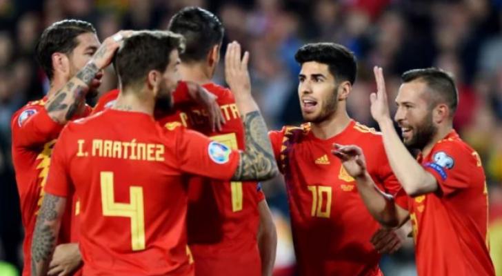 لاعبو المنتخب الاسباني