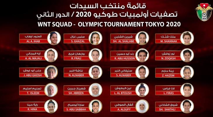 تشكيلة منتخب السيدات للتصفيات الاولمبية