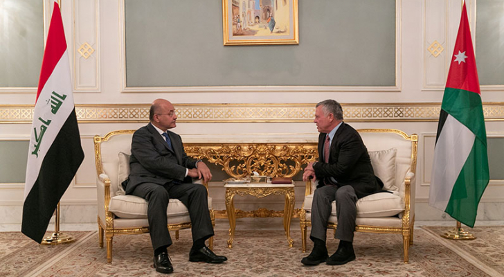 الملك يلتقي الرئيس العراقي في تونس