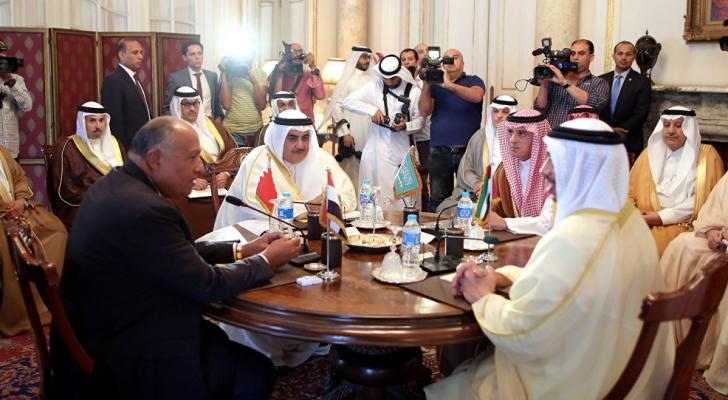 وزراء خارجة الدول المقاطعة لقطر - ارشيفية