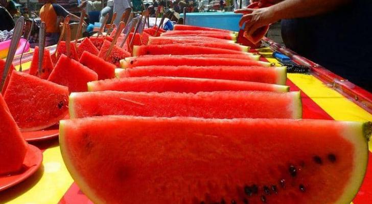 90 في المئة من وزن البطيخ ماء.