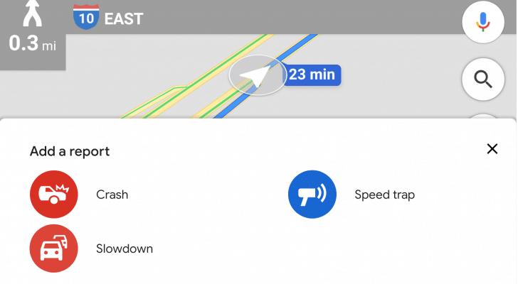 """جوجل تضيف ميزة الإبلاغ عن """"تباطؤ"""" حركة المرور إلى خرائطها"""