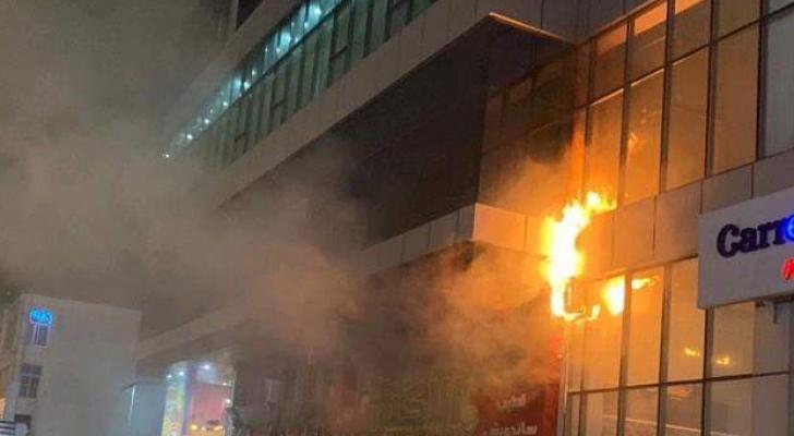 حريق مطعم في طبربور