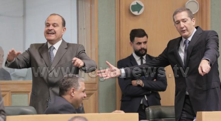 رئيس الوزراء الأسبق العين سمير الرفاعي ووزير الداخلية الاسبق العين حسين المجالي