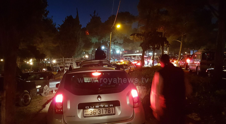 من الازحادمات المرورية بالعاصمة عمان
