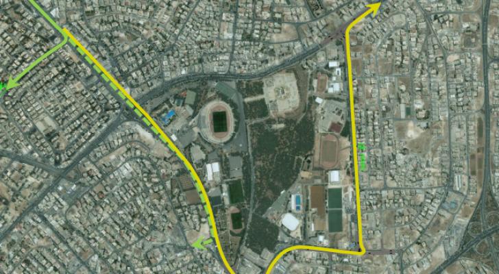 إغلاقات وتحويلات مرورية على تقاطع دوار المدينة الرياضية اعتبارا من الجمعة المقبل