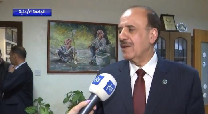 الدكتور عبدالكريم القضاة رئيس الجامعة الأردنية