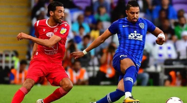 جانب من مباراة الهلال السعودي والنجم الساحلي التونسي