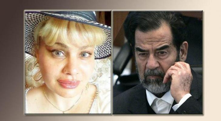 الرئيس الراحل صدام حسين والإبنة المزعومة نانا