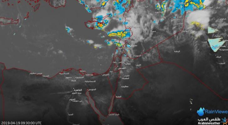 الأحد هطول أمطار غزيرة ومترافقة مع عواصف رعدية وتساقُط البَرَد محليّاً