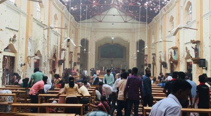 الانفجار استهدف كنيسة خلال عيد الفصح