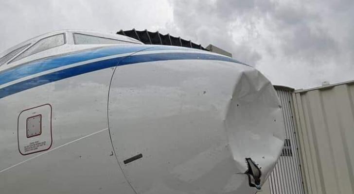 الطائرة الكويتية التي هبطت في بيروت