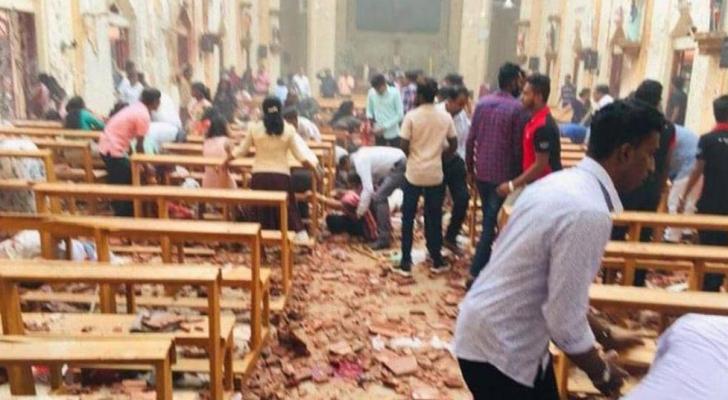 الانفجار استهدف كنيسة خلال عيد الفصح.