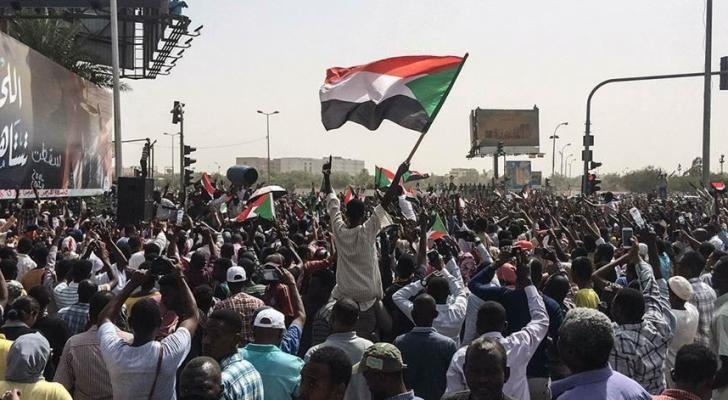 من الاحتجاجات في السودان