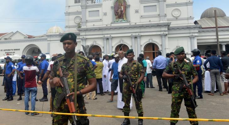 احدى الكنائس التي وقع فيها التفجير