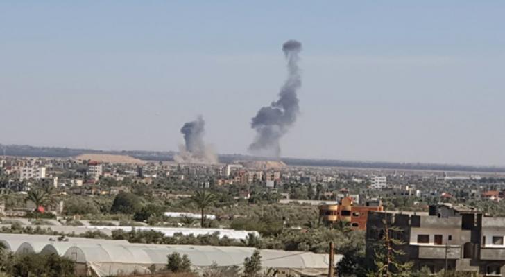 من القصف على غزة