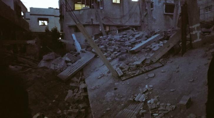 آثار الدمار التي خلّفها قصف الاحتلال