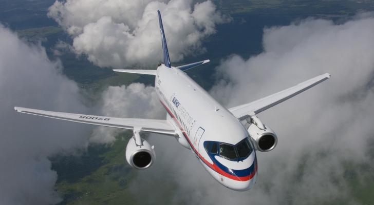طائرة روسية من طراز سوخوي سوبرجيت