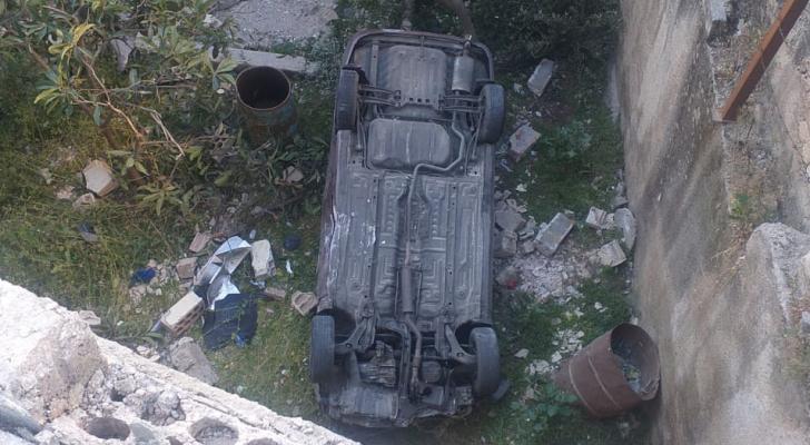 صورة من موقع الحادث - ادارة السير
