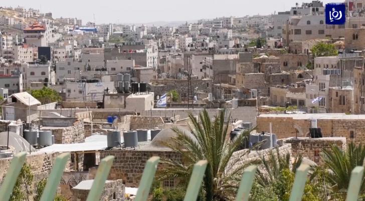 صورة عامة لبلدة الخليل في الضفة الغربية