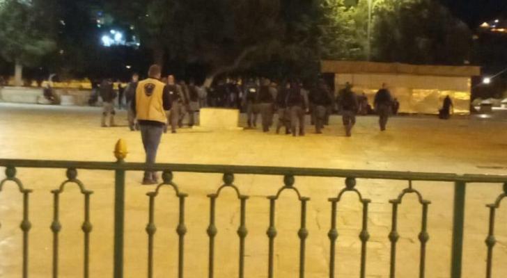 قوات الاحتلال في باحات المسجد الاقصى