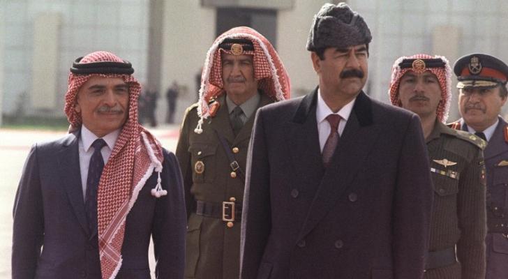 الراحلين الملك الحسين بن طلال وصدام حسين - ارشيفية
