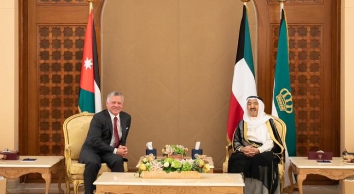 الملك وأمير الكويت يؤكدان عمق العلاقات الأخوية الأردنية الكويتية