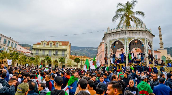 الاحتجاجات في الجزائر - الصورة أرشيفية