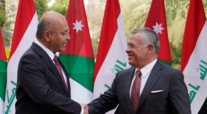 جلالة الملك عبد الله الثاني والرئيس العراقي برهم صالح