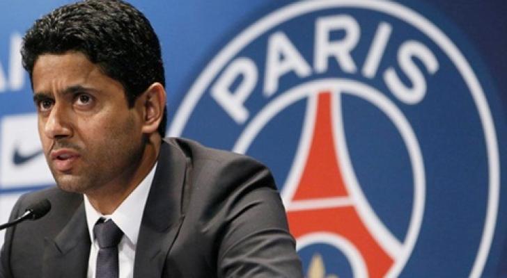 صورة أرشيفية - ناصر الخليفي رئيس نادي باريس سان جيرمان