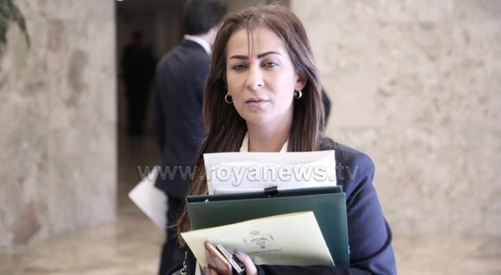 وزير الدولة لشؤون الاعلام الناطق الرسمي باسم الحكومة جمانه غنيمات