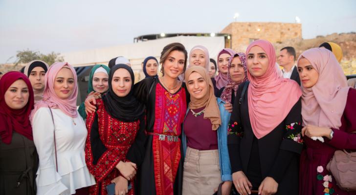 من زيارة الملكة رانيا الى الطفيلة